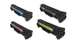 Hp Cc531a Cyan Toner (Generic Remanufactured Toner Cartridges Replacement for HP CC530A, CC531A, CC532A, CC533A (Black, Cyan, Magenta, Yellow, 4-Pack))