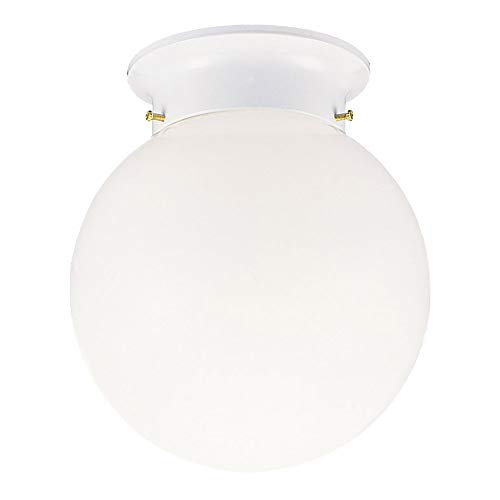 (Design House 510032 1 Light Ceiling Light, White)