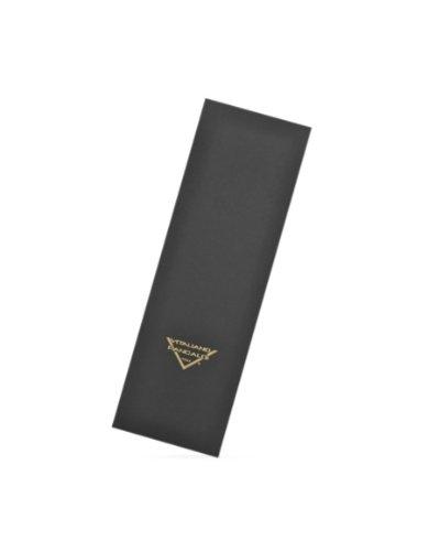 Vitaliano Pancaldi Handmade Solid Silk Tie W/ Swarovski Crystals