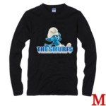Cute The Smurf Style 100% Cotton Long-Sleeve T-Shirt-Clumsy Smurf Pattern/Size M