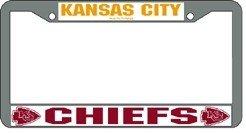 Kansas City Chiefs NFL Chrome License Plate