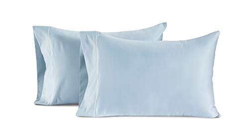 CHATEAU HOME COLLECTION Luxury 100% Egyptian Cotton 800-Thread-Count Egyptian Cotton Deep Pocket Sateen Weave, Set of 2 King Pillowcases - Blue
