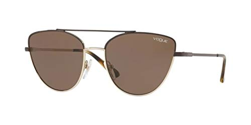 Ray-Ban 0VO4130S Gafas de Sol, Brown/Pale Gold, 56 para ...