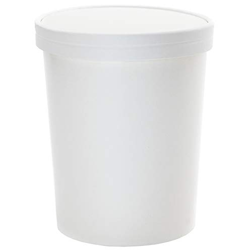32 oz Freezer Containers And Lids - With Non-vented Lids to Prevent Freezer Burn - Durable Heavy Duty Quart Ice Cream Containers! Frozen Dessert Supplies - 10 Count