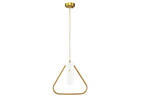 CanYa Golden Mini Circle Pendant Lighting Decorative Chandelier with Adjustable Cord for Kitchen Dining Room Bedroom Living Room Hotels and Shops - Circle Silver Cord