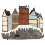 12.5 in. Animated Holiday Downtown, LED Lighted Animated Snowy Christmas Village House Scene by Home Accents Holiday (Image #4)