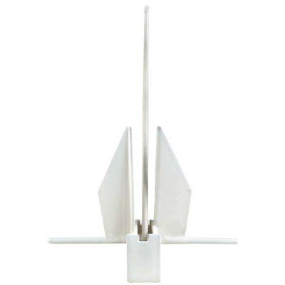 AMRG-P-08.1 Yachting Series PVC Coated Fluke Anchor fits boats up to 24'