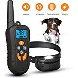 Hardcraft-Best Dog Training Collar Rechargeable Dog Shock Collar w/4 Training Modes, 100% Waterproof Training Collar with 1500ft Remote Range, 0~99 Levels Harmless Safe for All Dogs Training