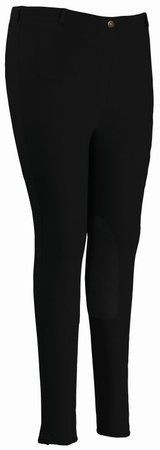 Tuffrider Riding Pants (TuffRider Women's Cotton Pull-On Breeches (Extra), Black, 40)