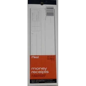 Mead Money Receipt Book with Duplicates, 66 Sheets (64120) by Mead Mead Receipt Book