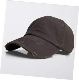 a7249ba743631e Image Unavailable. Image not available for. Color: Brown Vintage Distressed  100% Cotton Solid Polo Denim Baseball Cap Hat ...
