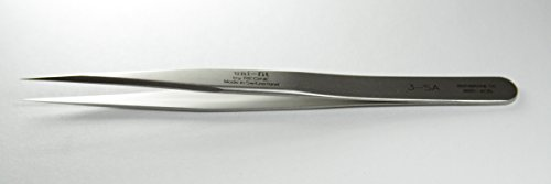 Uni-fit by Regine 3 -SA - Very Sharp, Fine Points, Straight Tip - Tweezer,- Antimagnetic, Anti-Acid Steel - Swiss Made - High Precision Watch-making Tweezers