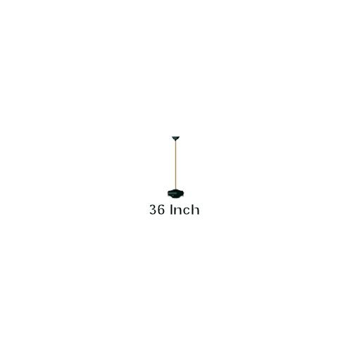 Monte Carlo DR36BK 36-Inch Downrod, Matte Black (Carlo Pewter Fan Light Monte)