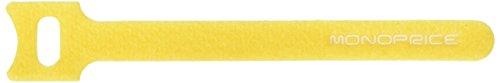 """Monoprice Hook & Loop Fastening Cable Ties, 6"""", 50 pcs - Yel"""