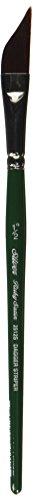 Silver Brush 2512S-012 Ruby Satin Short Handle Synthetic Brush, Dagger Striper, 1/2-Inch ()