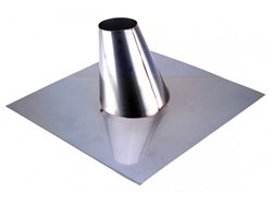 Z-Flex Z-Vent 3'' Stainless Adjustable Roof Flashing 0/12-6/12 (2SVSADJF03)