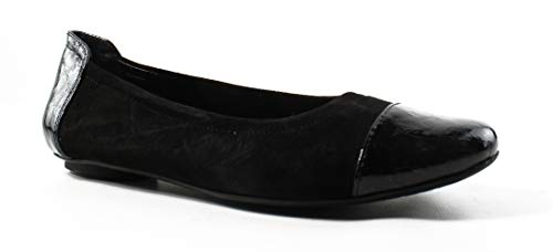 VANELi Womens Sidony708591-001 BlackSuede/blackLotoPatent Ballet Flats Size 6.5