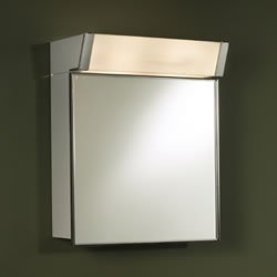 Metal Cabinet Framed Medicine (Jensen 555IL Lighted Medicine Cabinet, Stainless Steel, 16-Inch by 24-Inch)