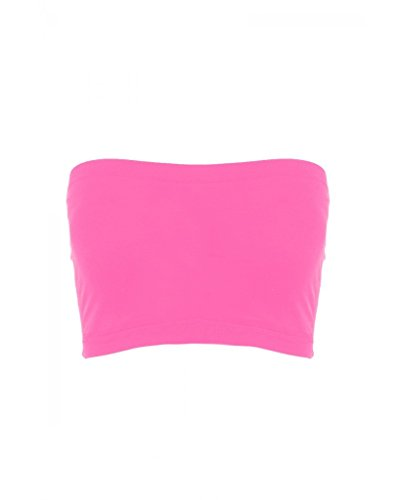 Sugar Lips Seamless Crop Tube Top-Neon Pink