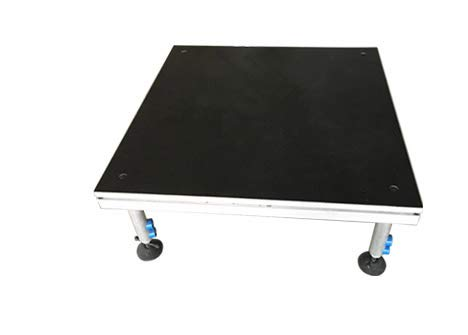 - Hisonic PS02 4' X 4' Portable Stage Platform Modular System with Height Adjustable Riser (24