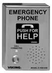 Emerg Phone - Viking Electronics - ADA Compliant Emerg. Phone w/ Dig. Voice Annouc-Weather Prot