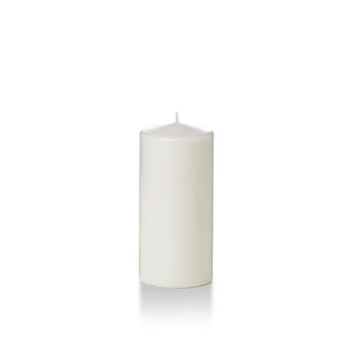 Yummi 3 x 6 White Round Pillar Candles - 3 per Pack