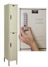 Hallowell One-Wide Double-Tier Lockers w/ Electronic Lock - Assembled (12