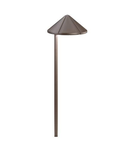 Kichler  15815AZT LED Side Mount Low Voltage Landscape Path and Spread Light, Textured Architectural Bronze