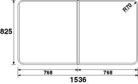 パナソニック 風呂フタ(長辺1536×短辺825:組みフタ:長方形:2枚:切り欠きなし) 【RL91058STC】 B00X98KPNM