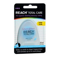 Reach Floss, Mint 30 yd (Pack of 6) - Waxed Unwaxed Floss
