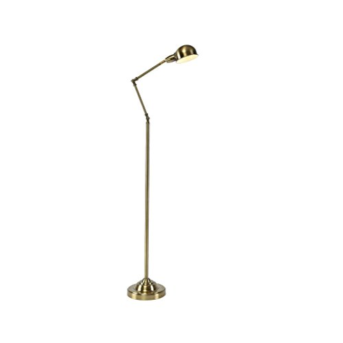 Modern Antique Brass Adjustable Iron Reading Craft Floor Lamp Interiors Contemporary Metal Lamp, Antique Brass