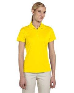 adidas Women's Rib Knit Collar Performance Pique Polo Shirt, Yellow, XX Large