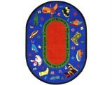 Joy Carpets Kid Essentials Inspirational Oval Walk In Faith Area Rug, Multicolored, 3'10'' x 5'4'' by Joy Carpets
