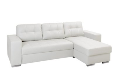 Corner Sofa Bed with Reversible Chaise Longue NOLAN Polyurethane ...