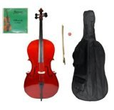 Crystalcello MC100 Full Size 4/4 Cello with Carrying Bag + Bow + Accessories by Merano