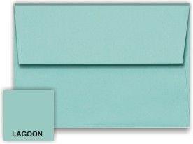 Metallic Lagoon A6 (4-3/4-x-6-1/2) Envelopes 50-pk - 120 GSM (81lb Text) PaperPapers 4X6 DIY, Social and Invitation - Stardream Metallic A6 Envelopes