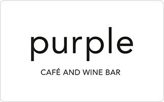 Purple Cafe and Wine Bar Gift Card ($50)