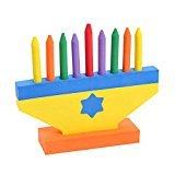 Hanukkah Foam Toy Menorah with Removable Candles and Star of David Hanukkah Foam