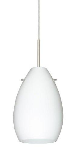 - Besa Lighting 1BT-171307-SN 1X50W E12 Pera 6 Pendant with Opal Matte Glass, Satin Nickel Finish