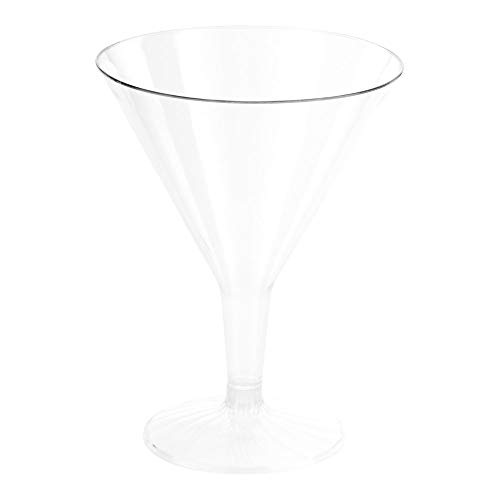 Plastic Martini Glass, Disposable Martini Glasses - Crystal Clear Premium Plastic - 7.5 oz - 100ct Box - Restaurantware by Restaurantware (Image #1)