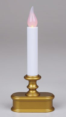 Good Tidings LED Window Candle with Light Sensor, Antique Finish