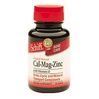 Schiff guidée minérale Cal-Mag-Zinc avec de la vitamine D - 90 comprimés - paquet de - 2