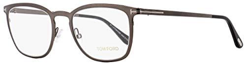 TOM FORD Eyeglasses FT5464 012 Shiny Dark Ruthenium ()