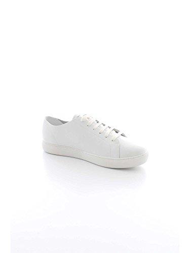 Armani Baskets Logo Hommes Chaussures Basses Blanc Blanc