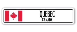 QUÉBEC, CANADA Street Sign Sticker Decal Wall Window Door Canadian flag city country road wall 226 - Sticker Graphic Personalized Custom Sticker Graphic ()
