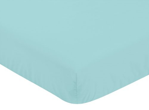 Sweet Jojo Designs Fitted Crib Sheet for Modern Emma Baby/Toddler Bedding Set Collection - Turquoise ()