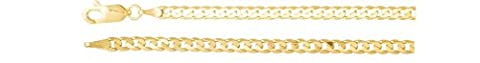 3mm 14k Yellow Gold Solid Curb Chain, 20