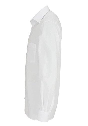 ETERNA Modern Fit Hemd extra langer Arm mit Brusttasche weiß AL 68