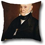 Oil Painting William Hudson, Jr. - Portrait Of John Quincy Adams (1844) Pillowcover 20 X 20 Inches / 50 By 50 Cm Best Choice For Valentine,study Room,home,him,adults,bar Seat With 2 Sides (Wicker Adam)