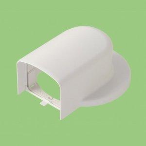 10個セット 室内用 化粧カバー 《シンプルダクト SP》 ウォールカバー フランジ用 ホワイト SPWF-85_set
